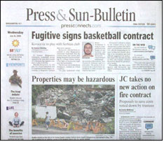 How do you place an ad in the Binghamton Press & Sun-Bulletin?