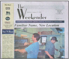 Lexington News Gazette- The Weekender TMC