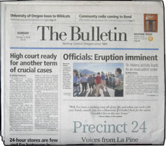 Bend Bulletin  The Bend Bulletin is in the Bend, OR DMA  It