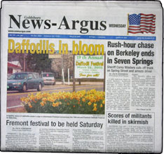 Goldsboro News Argus  The Goldsboro News Argus is in the