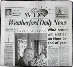 Weatherford Daily News  The Weatherford Daily News is in the